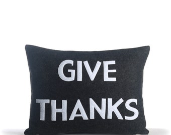 "NEW! throw pillow, decorative pillow, ""Give Thanks"" 14""X18"" throw pillow, NEW!"