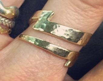 Gold Lightning Bolt Ring