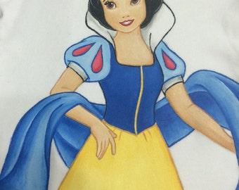 Disney Princess Custom clothing Painted Tiana, Snow White, Tinkerbell choice of sizes 12 m -24m, 2/2T -12