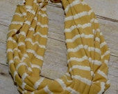 Mustard Yellow Infinity Scarf, Children's Scarf, Infinity Scarf, Mustard Yellow and Cream Ruffle Scarf, Toddler Scarf