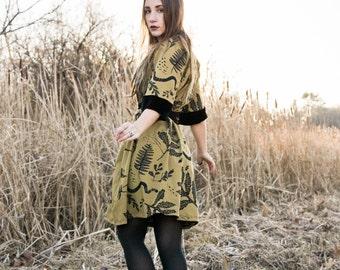 Ephemera Tie Dress - Velvet and Honey - American Milled Fabric - by Simka Sol®