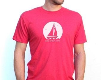 Sailboat Design - Sailing Tshirt - American Apparel 5050 Blend TShirt - Available in XS, S, M, L, Xl and Xxl