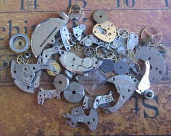 Vintage WATCH PARTS gears - Steampunk parts - b3 Listing is for all the watch parts seen in photos