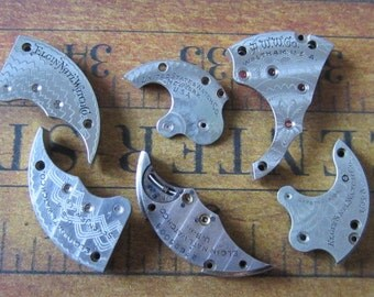 Vintage metal pocket Watch plates   - Steampunk - Scrapbooking d88