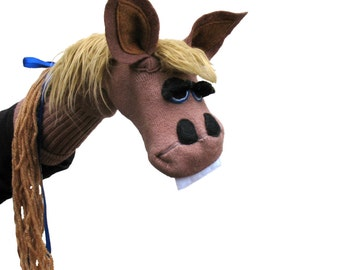 SALE: Brown Horse Couture Sock Puppet