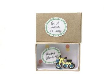 Bicycle Card/ Happy Birthday/ Message Box/ Birthday Card / Greeting Card/Bike Card