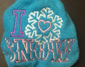 Christmas MamaBear One Size Fleece Diaper Cover - I Love Snow