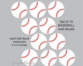 Baseball Decals Boys Sports Vinyl Art Stickers