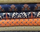 Set of 8, Joel Dewberry fabrics, Botanique fabrics, your choice of cut (fat quarter,half yard, or yard cut)