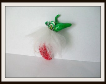 Christmas dragon stocking stuffer ooak Can be custom made for you haunted witch christmas