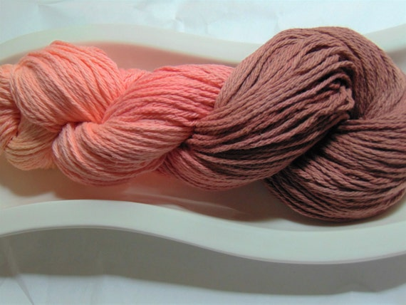 "Desert Sunset- ""Storm Warning Collection"" 100 Organic Cotton Hand Dyed Bulky Weight Ombre Yarn"