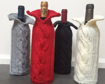Wine Bottle Cozy / Sweater (pick your color)