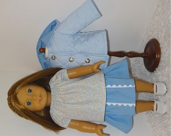 Blue Three-Piece Jacket Set, Fits 18 Inch American Girl Dolls