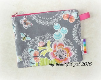 Gray Garden Zippered & Waterproof Mini Wetbag, 6x8 - INSTOCK