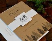 Pine Trees Design Winter Weddi...