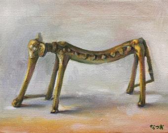 Original oil painting - Slim elephant