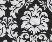 Michael Miller Damask - black and white - Fabric 1 yard off of bolt (more available)