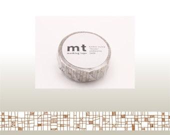 mt deco - washi masking tape - single - brown lines