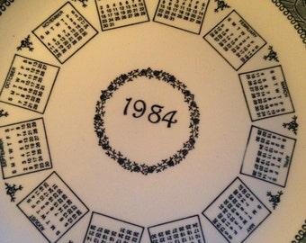 1984 Calendar Plate