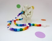 Colorful Rosary Made with Lego Bricks - Rainbow Boy or Girl Catholic Rosary made of Lego Bricks - All colors of the Rainbow