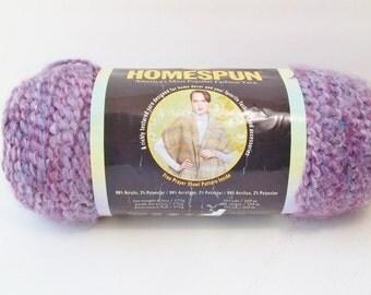 Lion Brand Homespun Yarn, SALE Baroque 322, Multi Lavender Bulky Yarn, 1 Skein Yarn Acrylic Polyester Destash Knitting Crochet Supplies