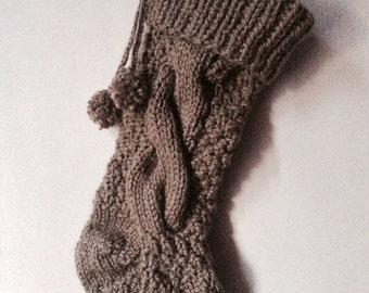 Chunky Cable-Knit Christmas Stocking