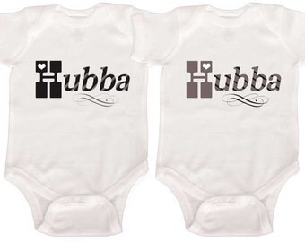 Funny Twin Baby Boy Bodysuits by Mumsy Goose  Twin Boy Creepers Retro Rompers