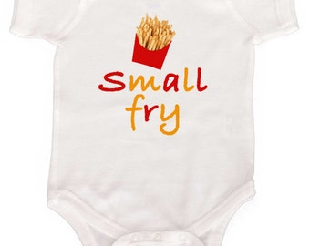 Funny Romper Small Fry Infant tshirts  by Mumsy Goose Newborn Rompers to Toddler Great for Baby Shower