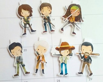 Walking Dead Inspired Magnetic Bookmark - Zombie Planner Clip