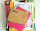 CLEARANCE SALE - 45 x Mixed Envelopes for Scrapbooking, Project Life, Daily PLanners, Junk Journals, Smash Books, MIXED sizes and colours