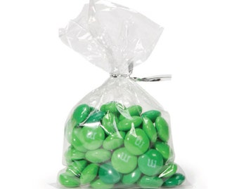 "100 No Flap Flat Clear Treat Bags, Clear Candy Bags, Clear Cello Bags, Clear Bags . 3"" x 5.5"""
