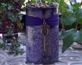 HEKATE LIMINAL RITES Key to the Crossroads Pillar Candle w/ Bronze Crown Key on Silk - Witch Queen, Dark Goddess, Divination, Voces Magicae