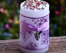 """WINTER FAERIE """"Old European Witchcraft""""™ Pillar Candle w/ Winterberry, Sugared Musk & Pine for Yule Solstice Sabbat, Wintertime Ritual Magic"""