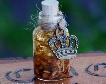 """GOLDFINGERS™ Crown Charmed """"Artisan Alchemist""""™ """"Old European Witchcraft""""™ Master Crafted Herbal Resin Oil with Real Gold Flake"""