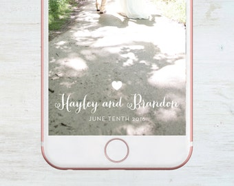 Custom Snapchat Geofilter, Wedding, Bachelorette, Birthday, Social Media Snap Filter