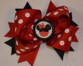 Girls hair bow Minnie Mouse hair bow Girls Minnie bow