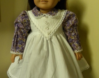 Dress and pinafore for 18 inch doll