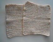 Crochet Cotton Dish Clothes Set of Two Spunky