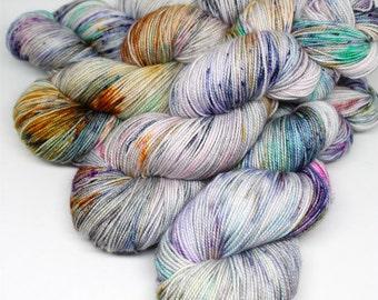 Hand Dyed Sock Yarn - SW Sock 80/20 - Superwash Merino Nylon - 400 yards - Lost and Wandering