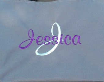 Set of 9 Personalized Embroidered Tote Bags Bridal Party Bridesmaid Gift