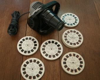 Vintage Sawyer View Master Reel Projector 60 + Discs