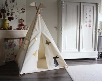 Moozle Teepee Tent, MIDI size tipi, indoor play teepee, kids room teepee, customized teepee