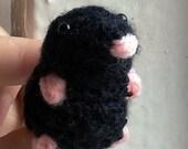 Bitty Mole Crochet Pattern - amigurumi mole pdf pattern instant download cute mole pattern stuffed mole plush mole crochet mole mini mole w