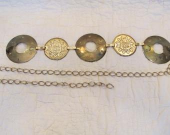Vintage Belt Chain with decorative round links needs TLC