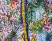Double Quilted Fabric Floral Garden Gazebo scenery almost 2yd
