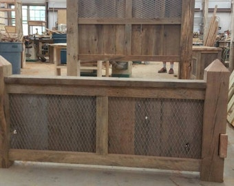 Your Custom Made Industrial Barn Wood Bed FREE SHIPPING - BWBR2D