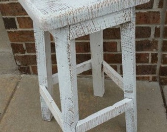 """Ready to ship 27"""" White Bar Stool with Free Shipping"""
