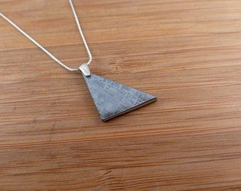 Gibeon Iron Meteorite Silver Pendant