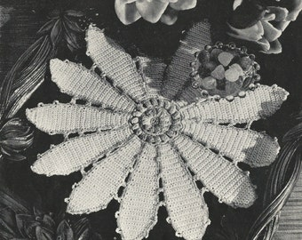 Pond Lily Doily Crochet PATTERN from a Star Book # 64 Pond Lily doily pattern # 6407 changed to a PDF instant download about 6 to 10 inches