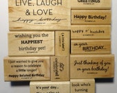 Stampin' Up! Rubber Stamps On Your Birthday